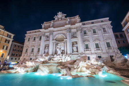 The Trevi Fountain is a fountain in the Trevi district in Rome, Italy. It is the largest Baroque fountain in Rome and one of the most famous fountains attracting tourist visiting Rome, Italy.