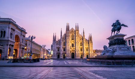 Dom von Mailand (Mailänder Dom) in Mailand, Italien. Der Mailänder Dom ist die größte Kirche Italiens und die drittgrößte der Welt. Es ist die berühmte Touristenattraktion von Mailand, Italien.