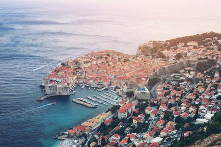 Dubrovnik Old Town on coast of Adriatic Sea, Dalmatia, Croatia - Prominent travel destination of Croatia.