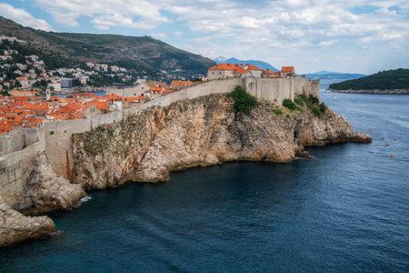 Historic wall of Dubrovnik Old Town, in Dalmatia, Croatia, the prominent travel destination of Croatia. Reklamní fotografie