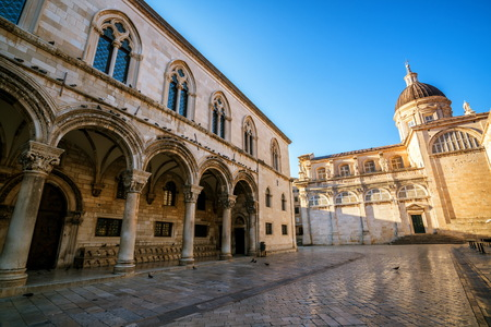 Dubrovnik Cathedral and Dubrovnik Museums in the old town of Dubrovnik , Croatia - Prominent travel destination of Croatia