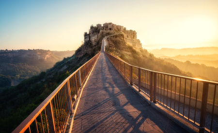 Civita di Bagnoregio is a beautiful old town in the Province of Viterbo in central Italy.
