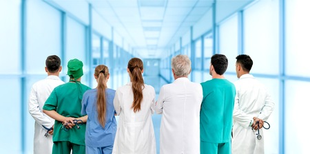 Healthcare profession teamwork and doctor service concept