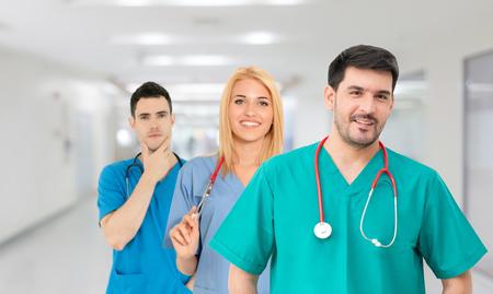 Grupo de personas sanitarias.
