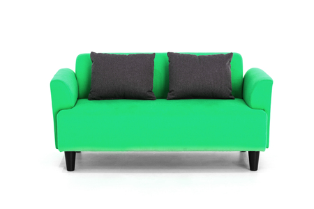 Green Scandinavian Style Contemporary Sofa On White Background ...