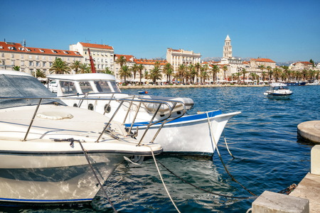 Old town of Split in Dalmatia, Croatia. Split is the famous city and top tourism destination of Croatia and Europe. Standard-Bild