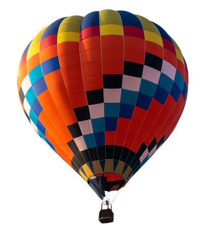 Isolated photo of hot air balloon isolated on white
