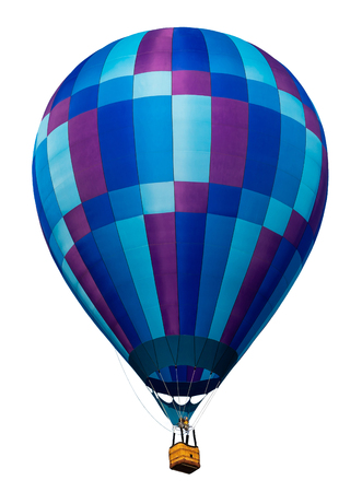 Isolated hot air balloon isolated on white Stock Photo