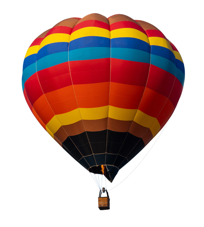 Isolated  hot air balloon isolated on white