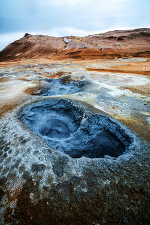 Hverir (Icelandic: Hverarond) is geothermal area in Myvatn, Iceland. Hverir is a famous tourist destination located near Lake Myvatn, Krafla northeastern region of Iceland, Europe.