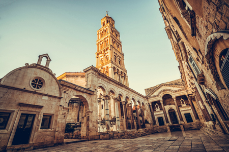The Diocletian's Palace in Split, Croatia - Famous Diocletian Palace is ancient palace built for Emperor Diocletian in historic center of Split, Croatia.