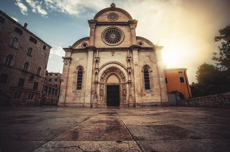 Cathedral of St James in Sibenik, Croatia - St James Cathedral is the most important architectural monument of the Renaissance era in Croatia. Reklamní fotografie