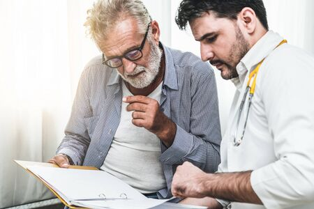 Patient visits doctor at the hospital. Concept of medical healthcare and doctor staff service. Stock fotó