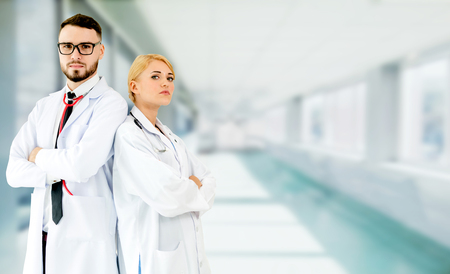Doctor working with another doctor in the hospital. Healthcare and medical service. Stockfoto - 124823738