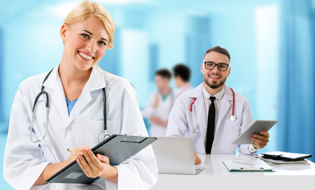 Doctors at hospital working with partner. Medical healthcare and doctor services. Stockfoto - 124823741