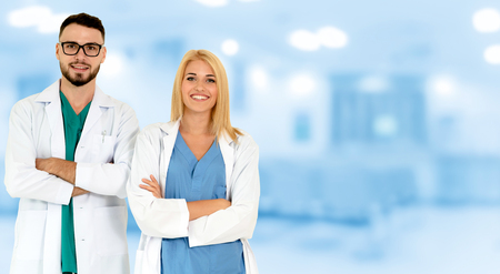 Doctor working with another doctor in the hospital. Healthcare and medical service. Stockfoto