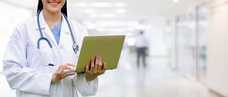 Professional doctor at the hospital. Medical healthcare business and doctor service.
