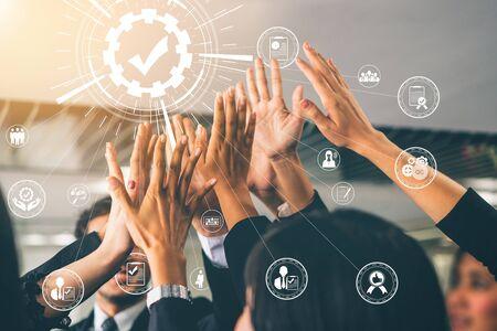 Qualitätssicherungs- und Qualitätskontrollkonzept - Moderne grafische Benutzeroberfläche mit zertifiziertem Standardprozess, Produktgarantie und Qualitätsverbesserungstechnologie zur Zufriedenheit des Kunden.