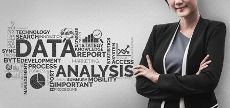 Data Analysis for Business and Finance Concept. Graphic interface showing future computer technology of profit analytic, online marketing research and information report for digital business strategy. Stok Fotoğraf - 132922769