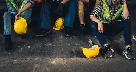 Concept of economic crisis, people unemployment and production Stock Photo