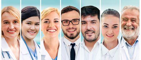 Professional healthcare people doctor, nurse or surgeon.