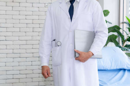 Doctor in professional uniform working at hospital . Medical healthcare and doctor service concept.