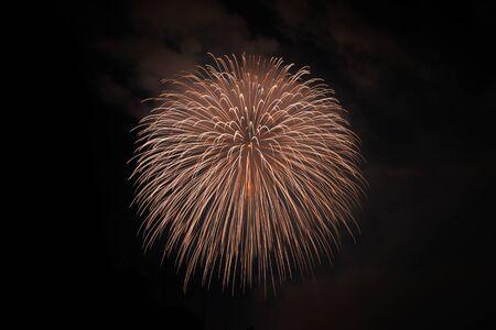 hanabi: Japanese fireworks in Summer Festival, Nagaoka city,Niigata prefecture, Japan
