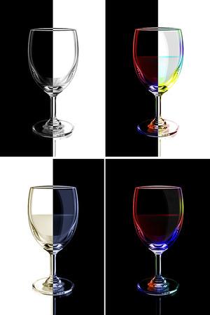 abstract liquor: wine glass