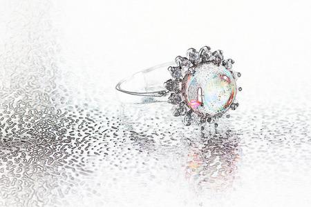 Digital art of jewelry Stock Photo
