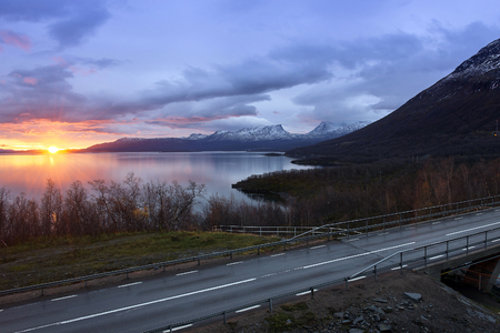 Light morning to the viewpoint at Abisko, Sweden.