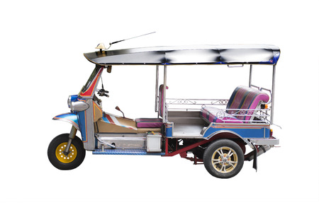 Tuk Tuk passenger tricycle in Thailand for more than over fifty years.
