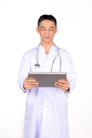 nurse station: Doctor checking patient in the examination room.