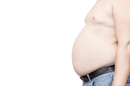 paunch: Belly fat people at large from eating behaviors.