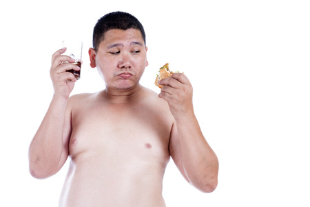 paunch: Belly fat people at large from eating behaviors. Junk food. Enjoy eating