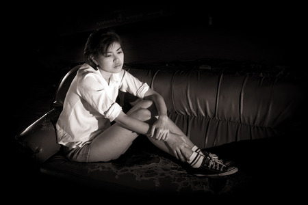 Teenage girls at risk of suicide. Due to family problems, love and hormonal changes.