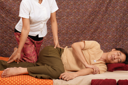 Spa and massage : Thai massage and spa for healing and relaxation Banco de Imagens