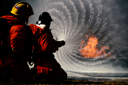 Fire drills in the training center regularly to get ready.
