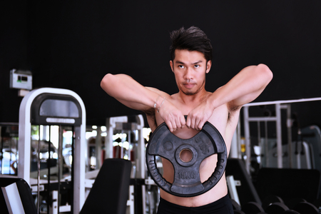 Man exercise in the gym