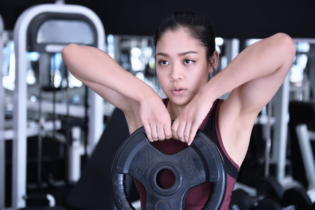 Woman exercise in the gym