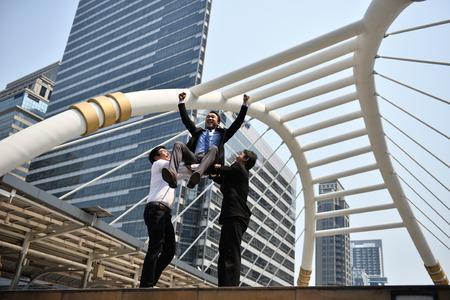 Teamwork contributes to better business success. Stock fotó