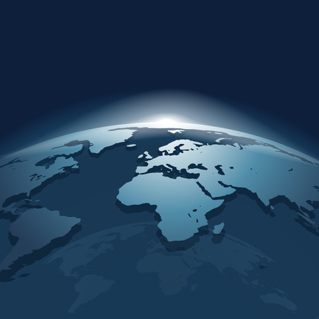 Abstract 3d Globe Ilustracja