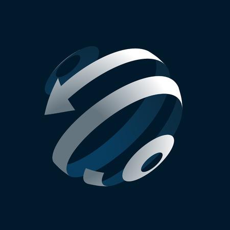 globe logo: Abstract 3d Globe Logo Illustration