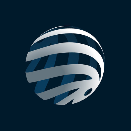 globus logo: Abstract 3d Globe Logo Illustration