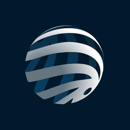 Abstract 3d Globe Logo Illustration