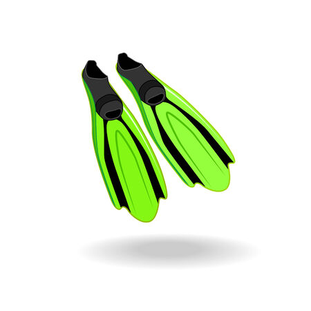 flippers: Two flippers for diving Illustration