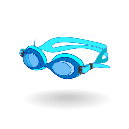 swimmer: Blue Swimming Goggles