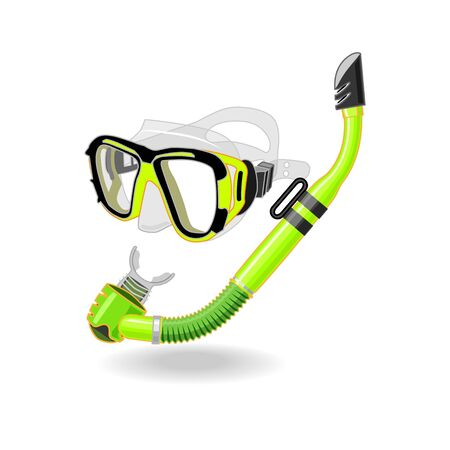 free diver: Goggles with snorkel