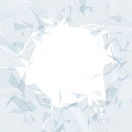 vetro rotto: Hole in the Broken Glass Vettoriali