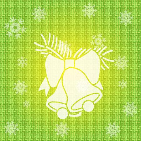 campanas de navidad: Vector Fondo de Navidad con campanas Vectores