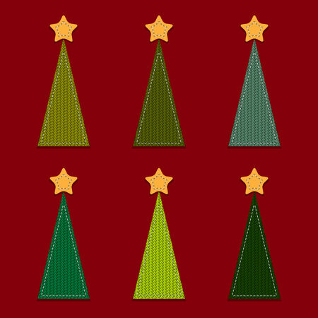 Vector Christmas Background with Trees Vector